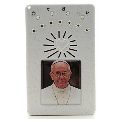 Rosario Elettronico Papa Francesco bianco Coroncina 1