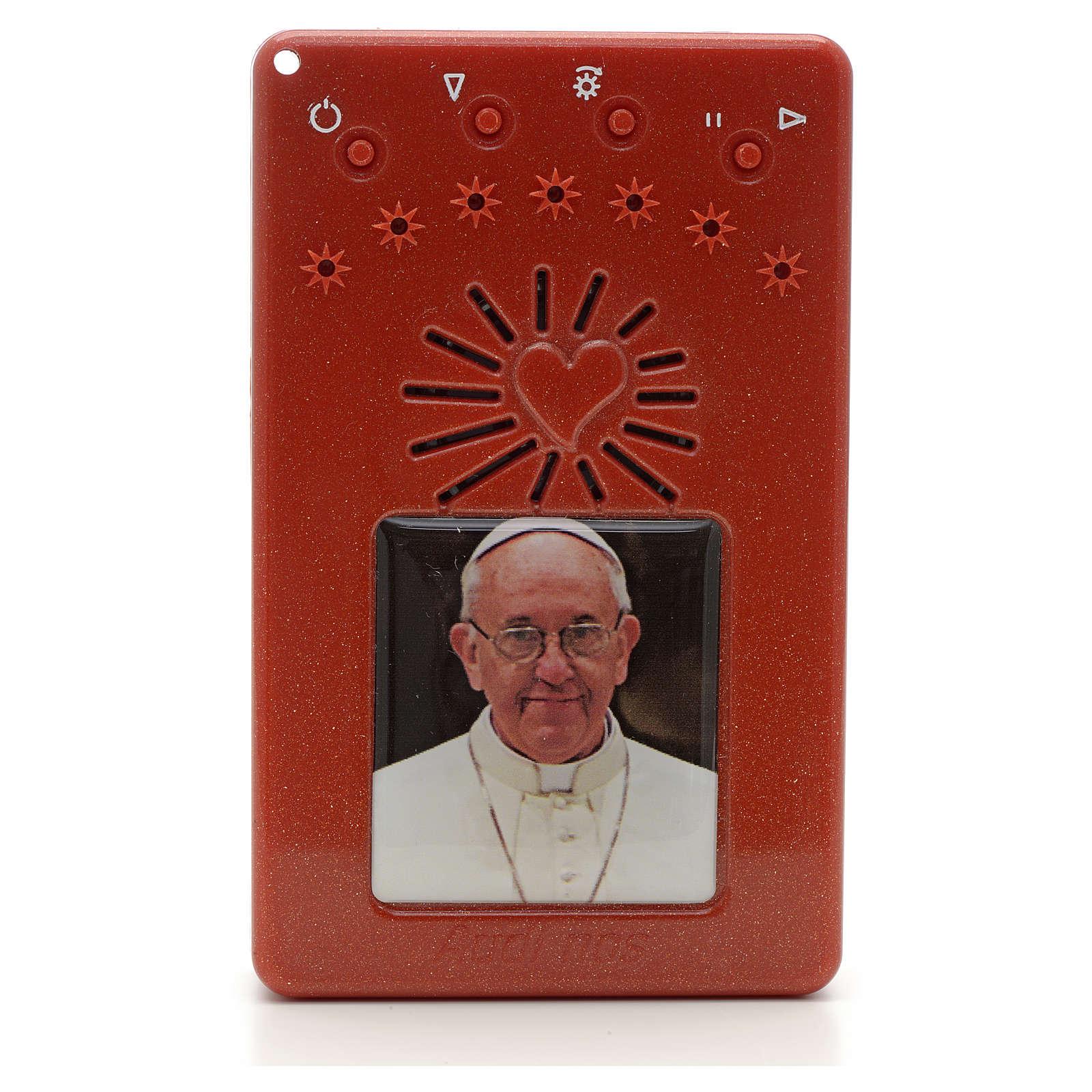 Rosario Elettronico Papa Francesco rosso Coroncina 4