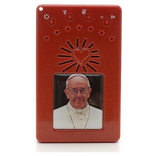 Rosario Elettronico Papa Francesco rosso Coroncina 1
