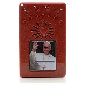 Rosario Electrónico Rojo Papa Francisco saluda Corona ITA s1