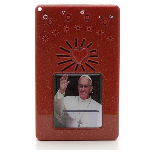 Rosario Electrónico Rojo Papa Francisco saluda Corona ITA 1