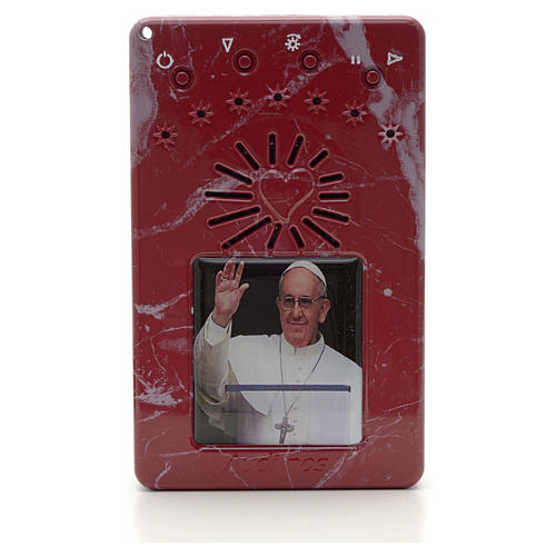 Rosario Electrónico Papa Francisco saluda rojo Letanias 1