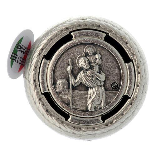 Placca parlante adesiva preghiera San Cristoforo 1