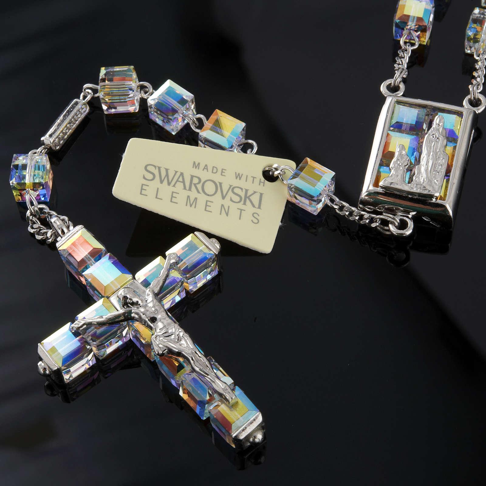 Rosario Ghirelli Swarovski cubo Iridescente Lourdes 4