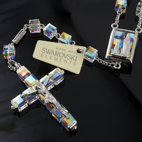 Rosario Ghirelli Swarovski cubo Iridescente Lourdes 7