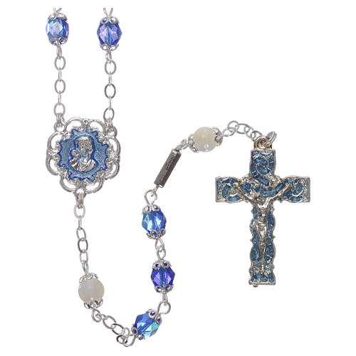 Ghirelli rosary mother-of-pearl Pater Noster beads 1