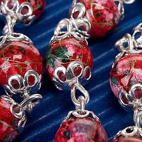 Rosario Ghirelli vetro decorato rosso s3
