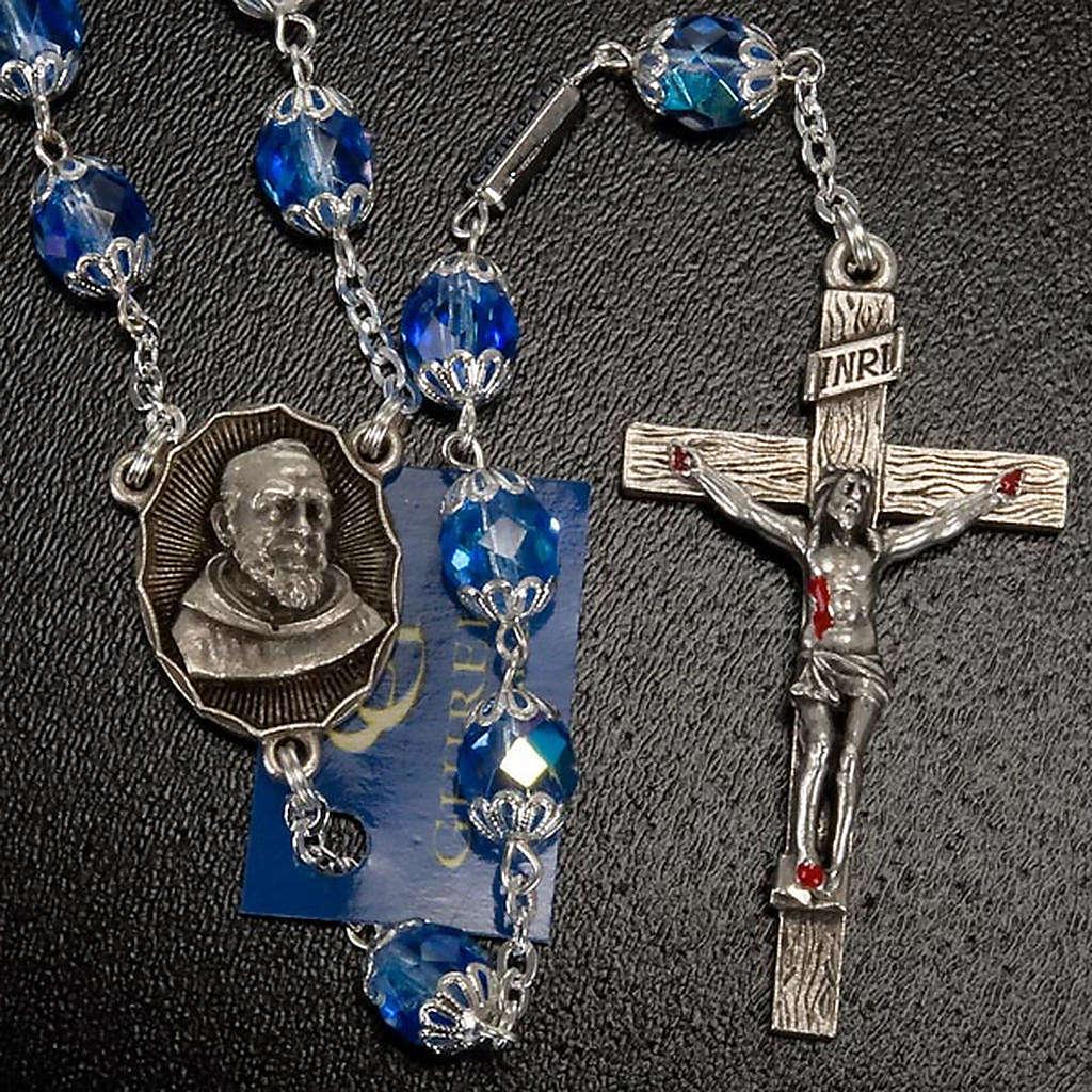 Rosario Ghirelli di Padre Pio  vetro zaffiro 4