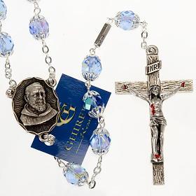 Rosario Ghirelli di Padre Pio  vetro zaffiro s1