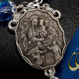 Rosario Ghirelli di Padre Pio  vetro zaffiro s5