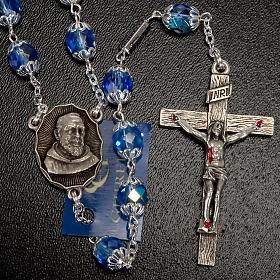 Rosario Ghirelli di Padre Pio  vetro zaffiro s7