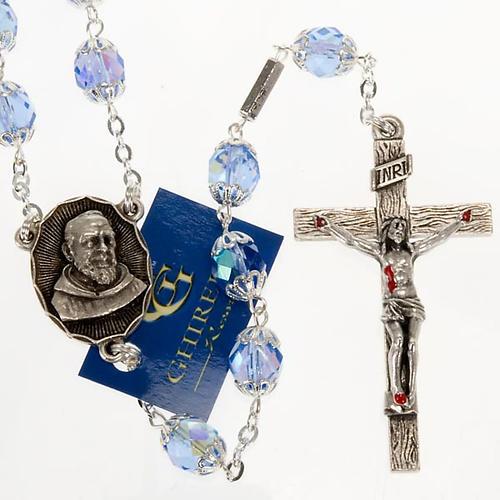Rosario Ghirelli di Padre Pio  vetro zaffiro 1