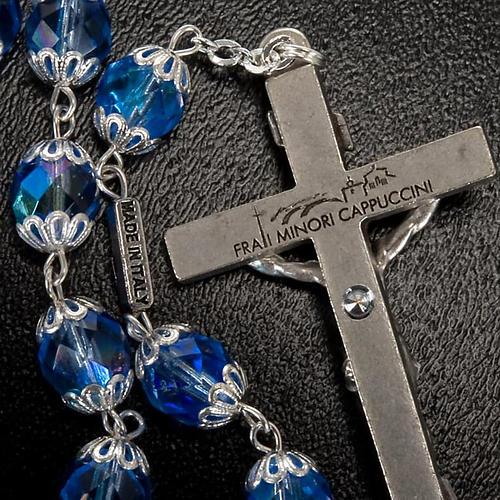 Rosario Ghirelli di Padre Pio  vetro zaffiro 3