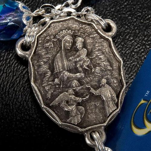 Rosario Ghirelli di Padre Pio  vetro zaffiro 5