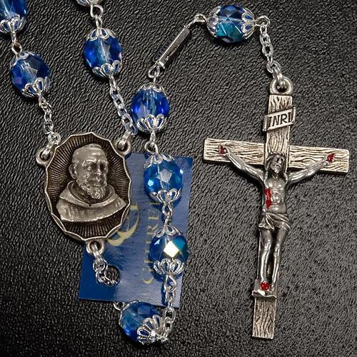 Rosario Ghirelli di Padre Pio  vetro zaffiro 7