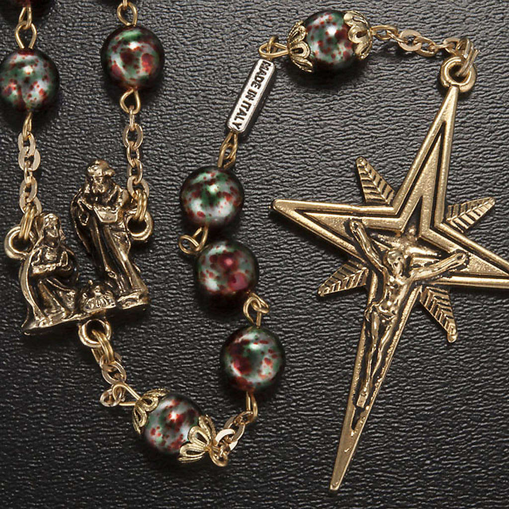 Ghirelli rosary Christmas with Bohemia glass 8 mm 4