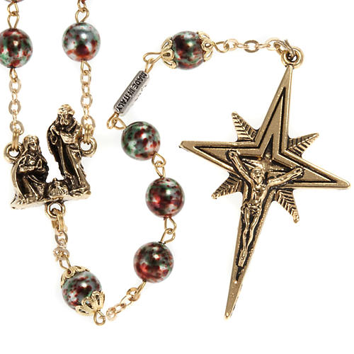Ghirelli rosary Christmas with Bohemia glass 8 mm 1