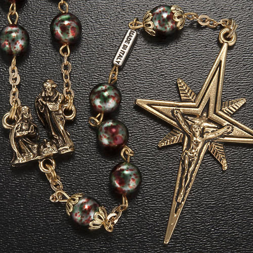 Ghirelli rosary Christmas with Bohemia glass 8 mm 2
