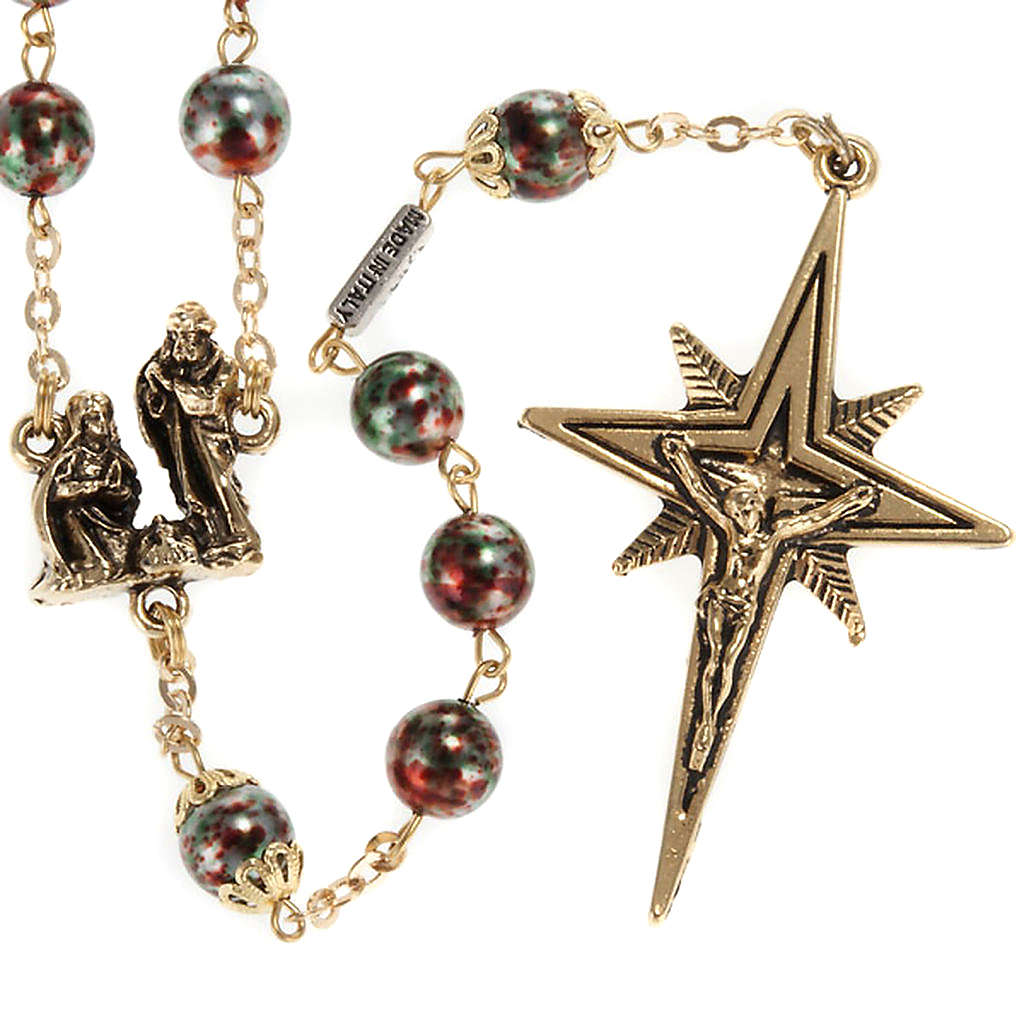 Ghirelli rosary Christmas with Bohemia glass 8 mm 4