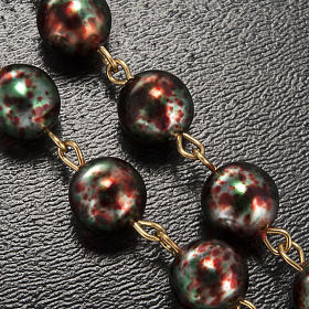 Ghirelli rosary Christmas with Bohemia glass 8 mm s5