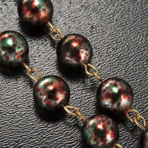 Ghirelli rosary Christmas with Bohemia glass 8 mm 5