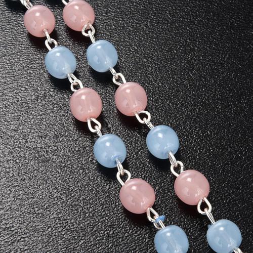 Rosario Ghirelli vetro Bohemia rosa azzurro 6 mm 4