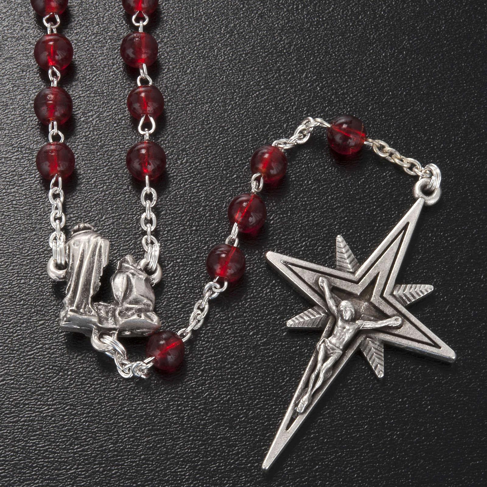Rosario Ghirelli Natività e stella vetro rosso 6 mm 4