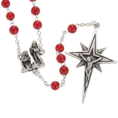 Rosario Ghirelli Natività e stella vetro rosso 6 mm 1