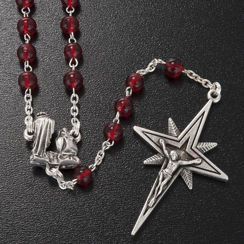 Rosario Ghirelli Natività e stella vetro rosso 6 mm 2