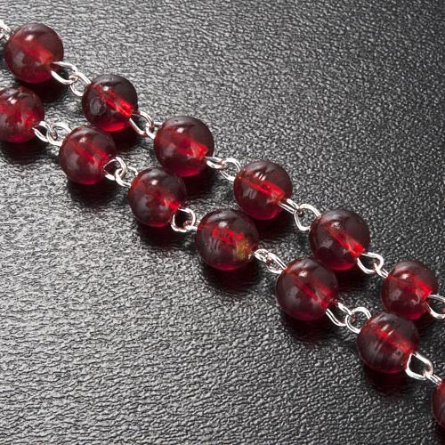 Rosario Ghirelli Natività e stella vetro rosso 6 mm 3
