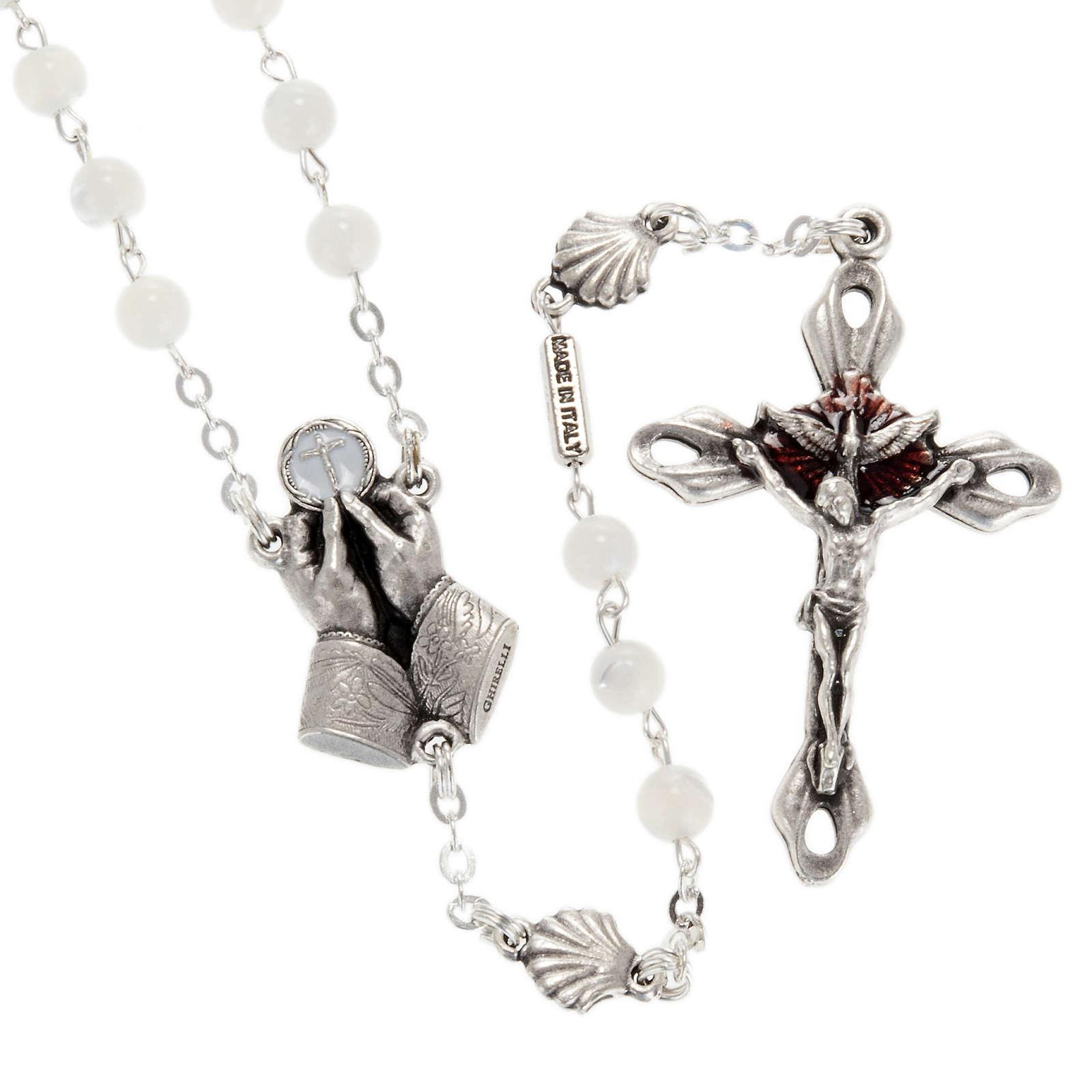 Chapelet Ghirelli nacre Divine Miséricorde 4