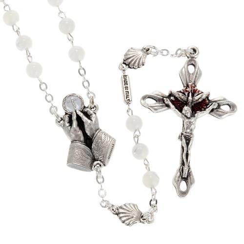 Chapelet Ghirelli nacre Divine Miséricorde 1