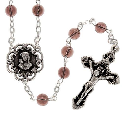 Rosario Ghirelli vetro rosa 6 mm rose Madonna 1