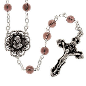 Ghirelli rosary with Virgin Lady and roses 6 mm s2