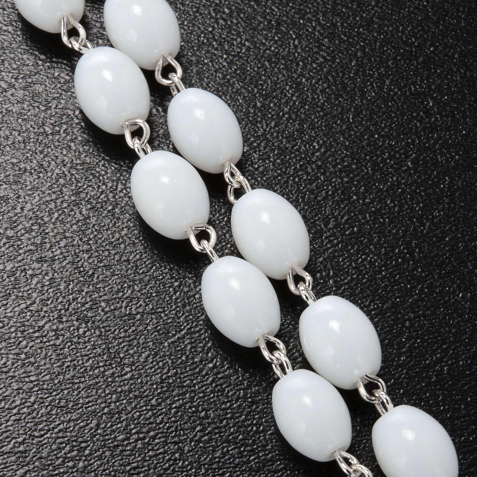 Rosario Ghirelli vidrio de Bohemia color blanco 5x7mm 4