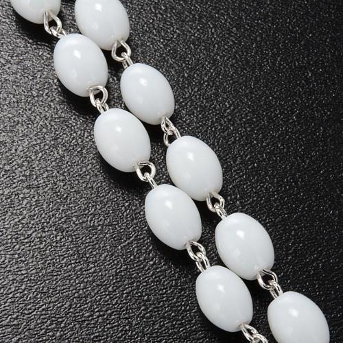 Rosario Ghirelli vidrio de Bohemia color blanco 5x7mm 7
