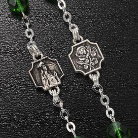 Ghirelli rosary Knock half-crystal green 7 mm s4