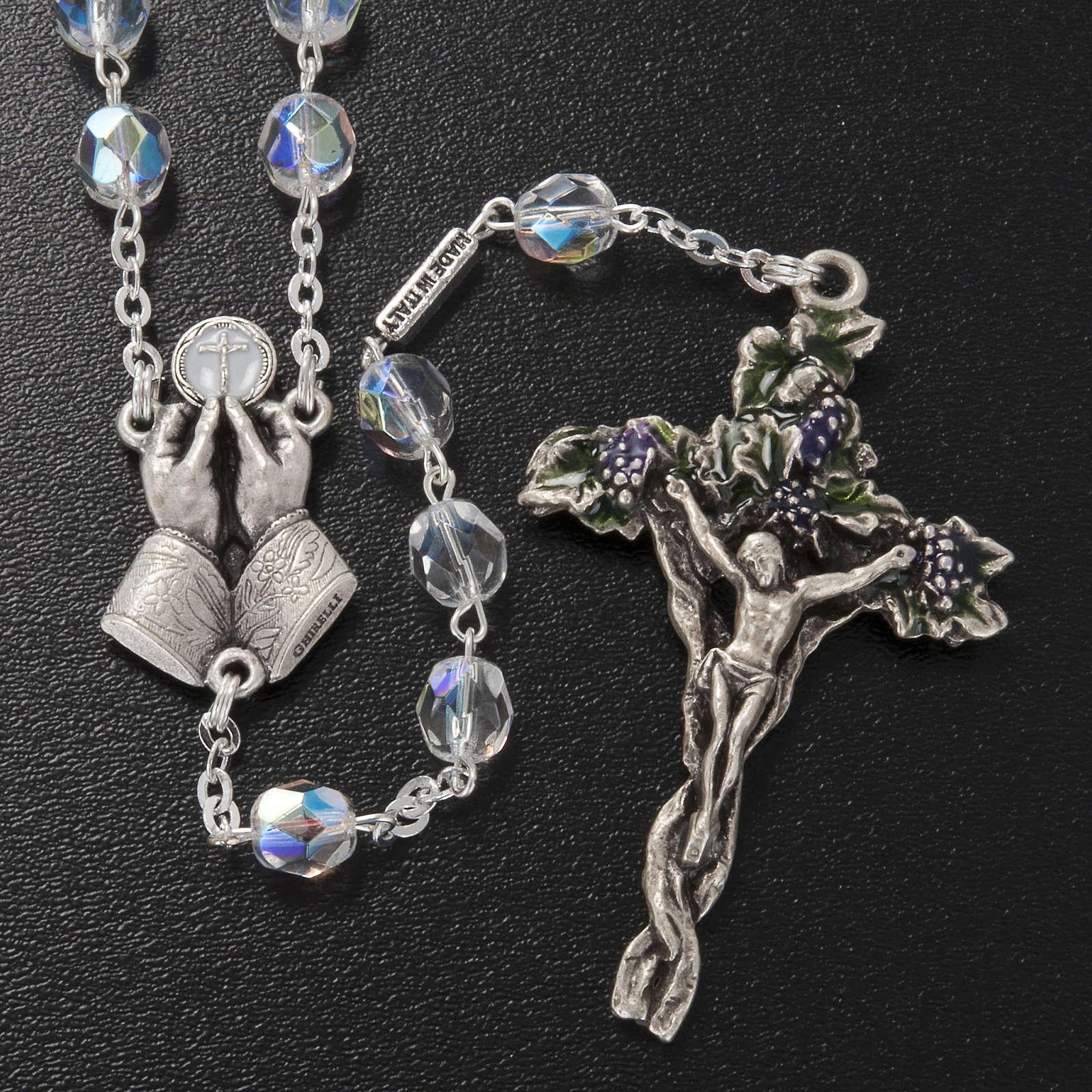 Chapelet Ghirelli demi-cristal Jésus Miséricordieux 7mm 4
