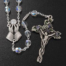 Chapelet Ghirelli demi-cristal Jésus Miséricordieux 7mm s2