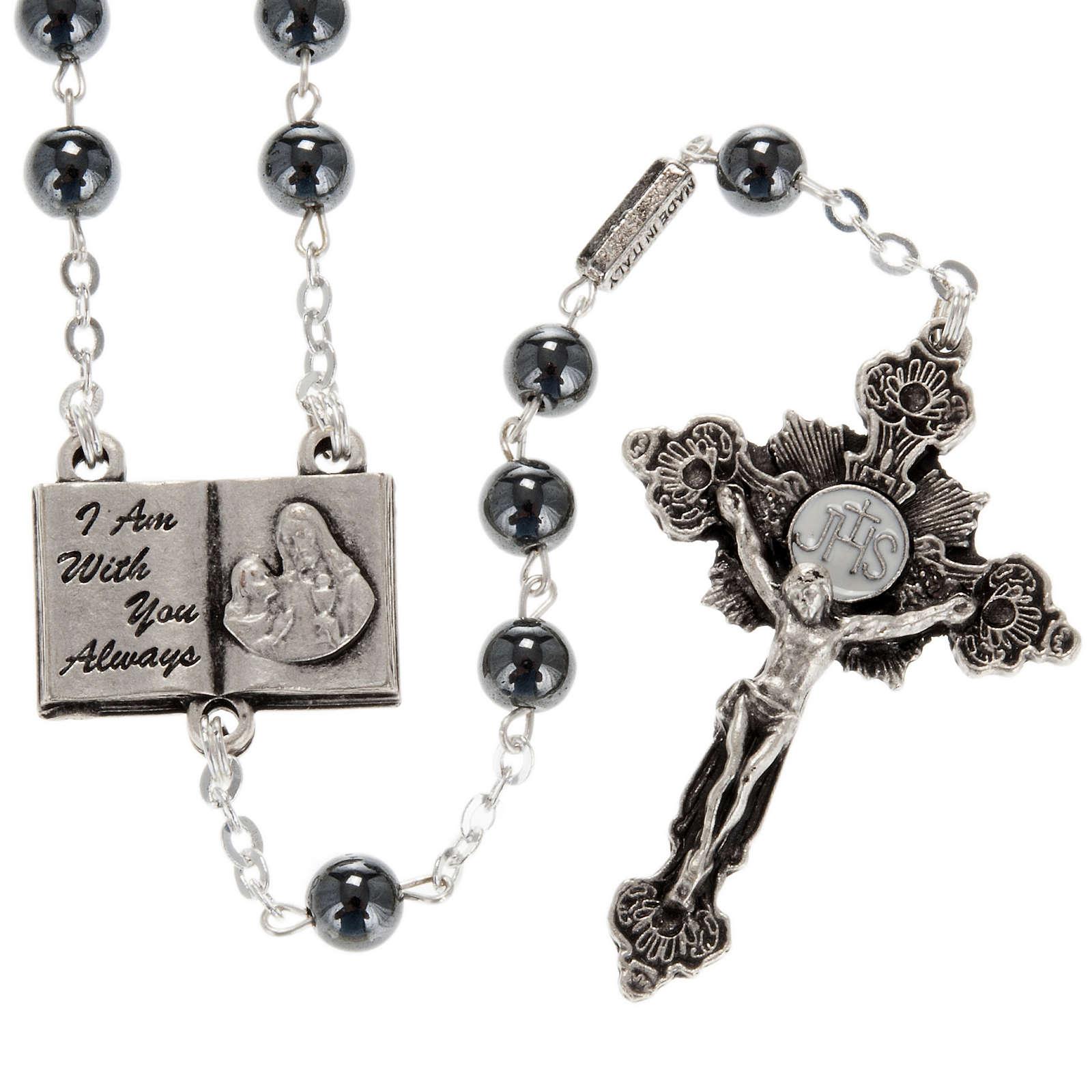 Ghirelli rosary beads hematite 6mm 4