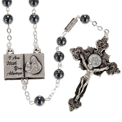 Ghirelli rosary beads hematite 6mm 1