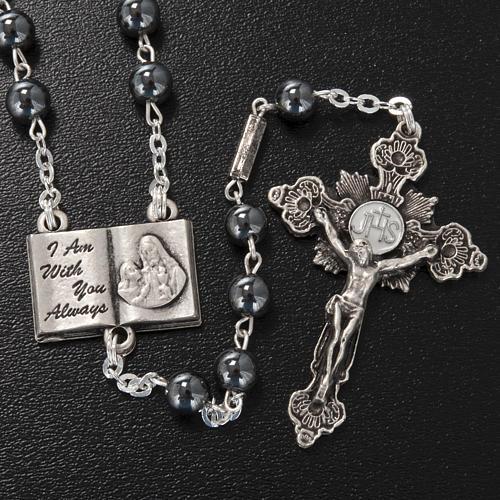 Ghirelli rosary beads hematite 6mm 2