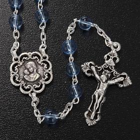 Rosario Ghirelli vetro azzurro rose 6 mm s2
