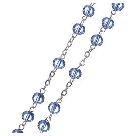 Ghirelli rosary beads light blue glass, roses 6mm s3
