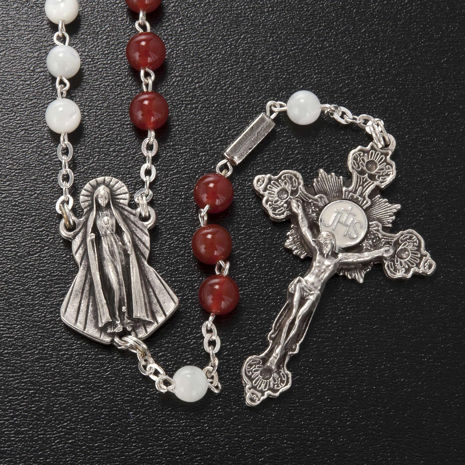 Rosario Ghirelli agata madreperla Sacro Cuore e Misericordia 4