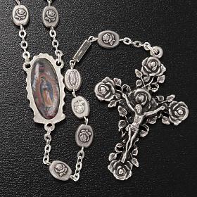 Rosario Ghirelli Madonna Guadalupe argentata 6x8 mm s2