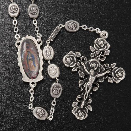 Rosario Ghirelli Madonna Guadalupe argentata 6x8 mm 2