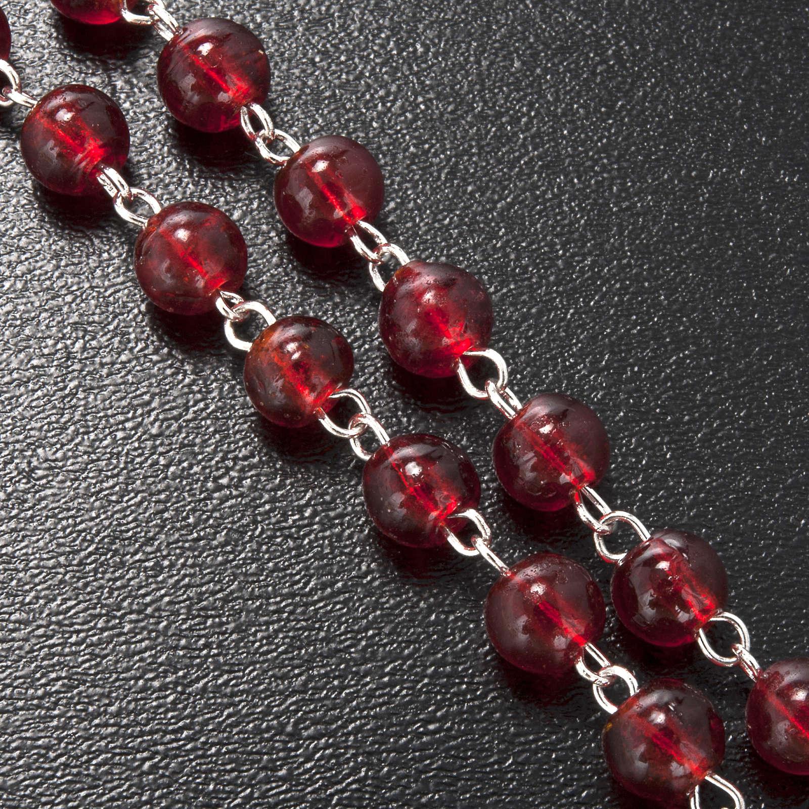 Rosario Ghirelli vetro Bohemia rosso Cresima 6 mm 4