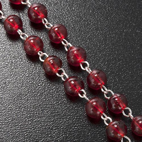 Rosario Ghirelli vetro Bohemia rosso Cresima 6 mm 5