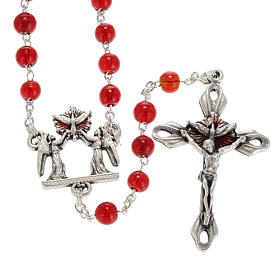 Ghirelli rosary, Bohemia glass, Confirmation 6mm s1